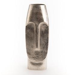 Vase visage en aluminium