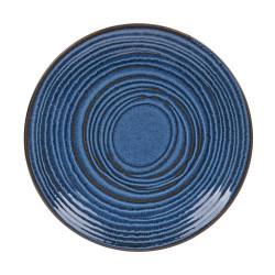 Assiette plate Moon bleu 27...