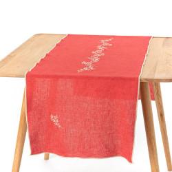 Chemin de table Sacha rouge...