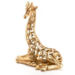 Girafe assise Savane 32x20x38