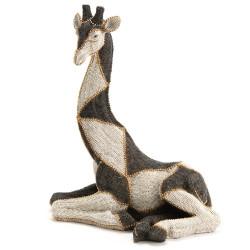 Girafe assise Perles 32x20x38