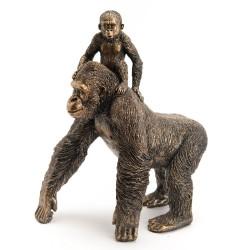 Maman gorille et son petit...