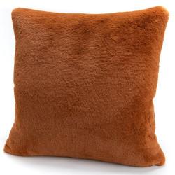 Coussin Luxe marron 50x50