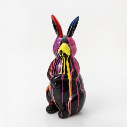 Lapin Trash multicolore 54 cm