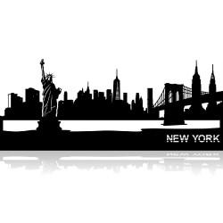 Plaque en métal New York 120cm