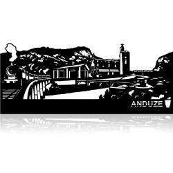 Plaque en métal Anduze 40 cm