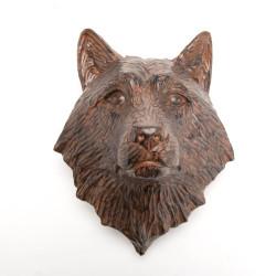 Trophée Loup marron 20 cm