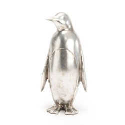 Pingouin argenté 40 cm