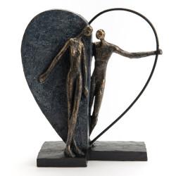Couple et cœur 31 cm