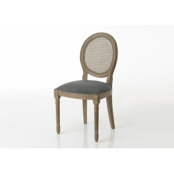 Chaise médaillon gris (lot...