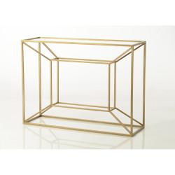 Console Cubique en verre et...