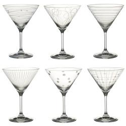 Set 6 verres à cocktail...