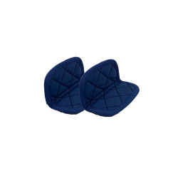 Paire de maniques bleu foncé
