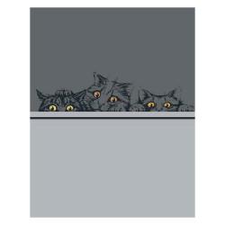 Set de 3 torchons cats...