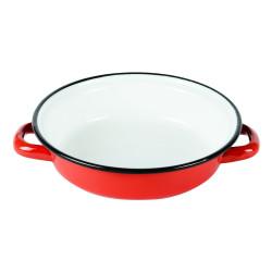 Plat à œuf 14 cm émaillé rouge
