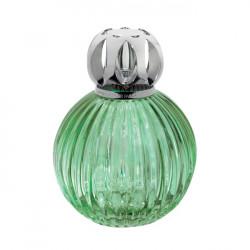 Lampe plissée verte