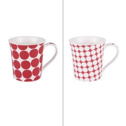 Mug pois rouge 35 cl (lot...