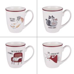 Mug Funny cats 38 cl (lot...