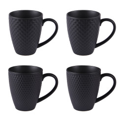 Coffret 4 mugs black snow...
