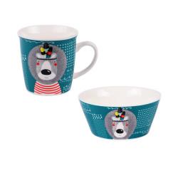 Coffret de deux mugs 32.5...