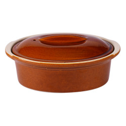 Terrine ovale caramel 0.75 l