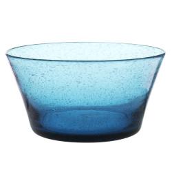 Saladier artisan bullé bleu