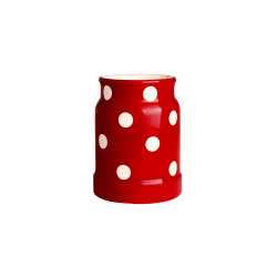 Pot à ustensiles rouge Pois