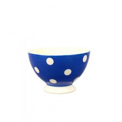 Mini bol pois 10 cm bleu fort