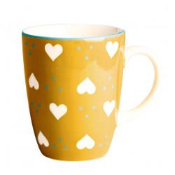 Mug B&CO Coeur 30 cl curry