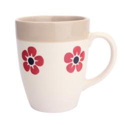 Mug flore 30 cl rouge et...