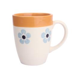 Mug flore 30 cl bleu et orange