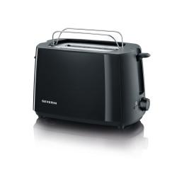 Toaster noir deux fentes 700w