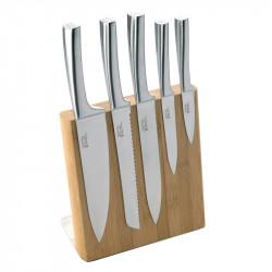 Bloc bambou 5 couteaux Météor