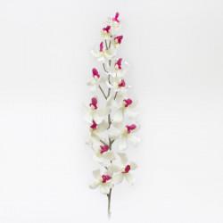 Orchidée blanc - pourpre 100cm