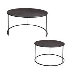 Set de 2 tables en métal...