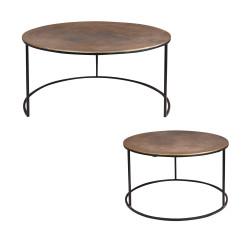 Set de 2 tables diamètres...