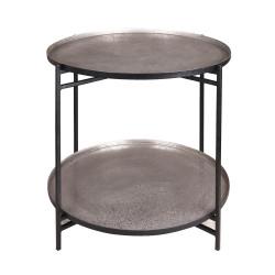 Table à deux étages nickel...