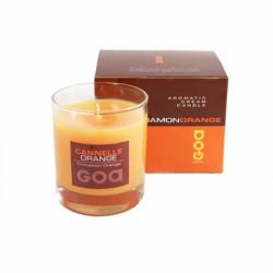 Bougie crème cannelle orange