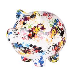 Tirelire cochon granito h22 cm
