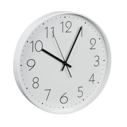Pendule en métal 31 cm blanc