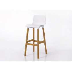 Tabouret de bar blanc Coque